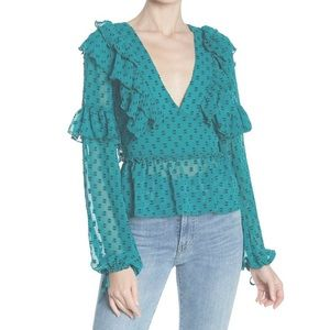 NWT Tularosa Mabel long sleeve ruffle blouse
